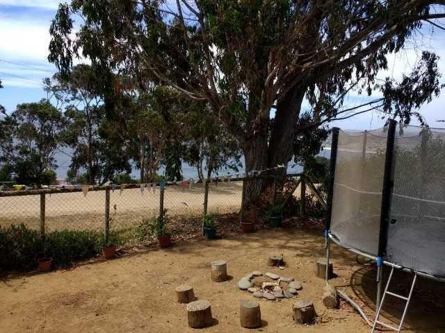 cabaña con vista al mar, acogedora casa en la playa