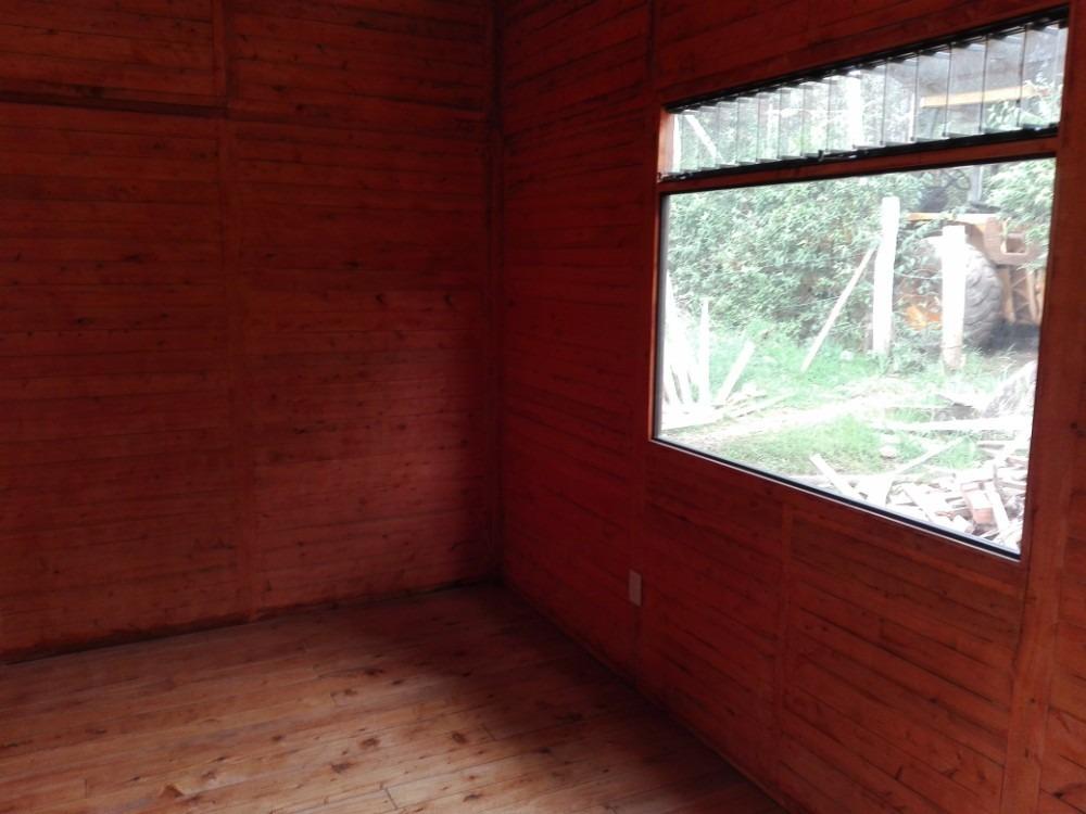 cabaña de lujo para estrenar, con mobiliario parcial.