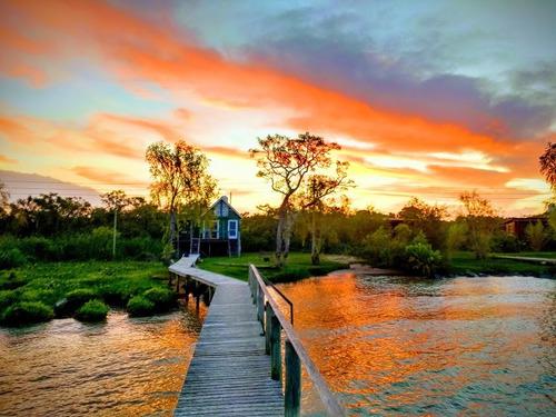 cabaña delta de tigre, canal honda, pesca, playa privada