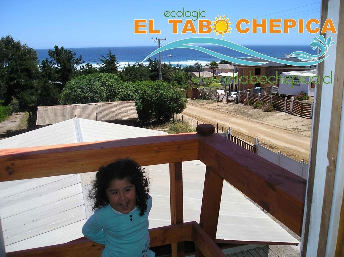 cabaña en el tabo a solo dos cuadras de la playa