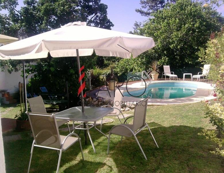 cabaña en pinares 3 dormitorios piscina parrillero-ref:33937