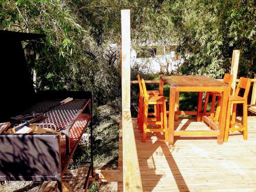cabaña en tigre con playa, parrilla, parque y bosque