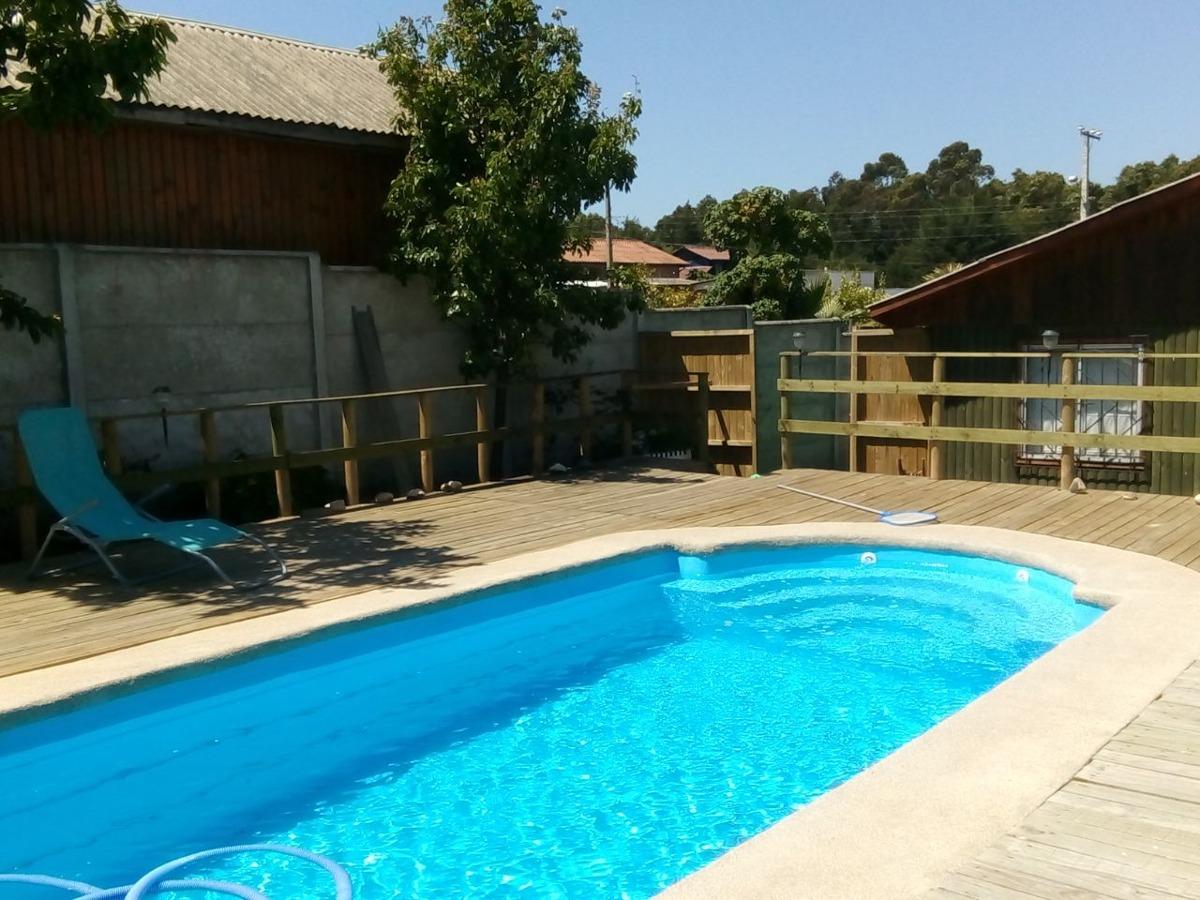 cabaña horcon con piscina