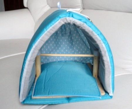 cabana iglu para calopsitas, agapórnis e piriquitos.
