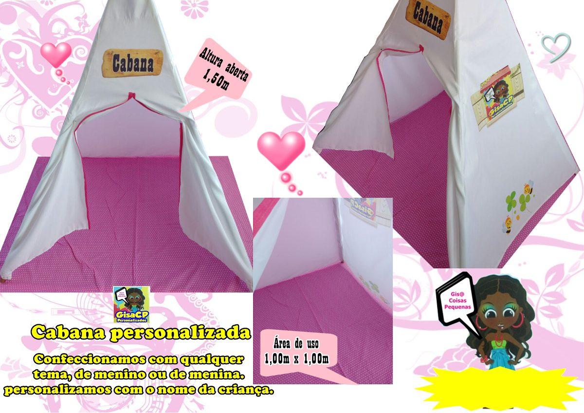 376e1773d91f19 Cabana Infantil Tenda Toca Festa Do Pijama Personalizada