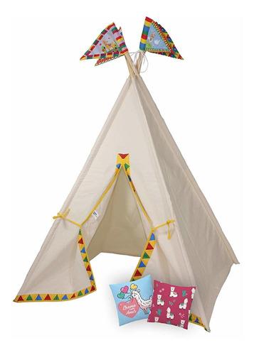 cabana lhama infantil 120x160 com almofada papo de pano