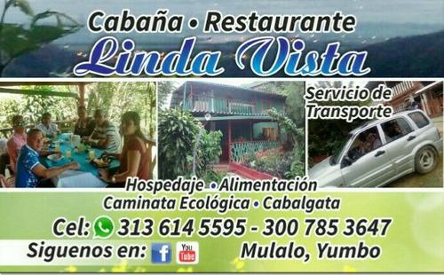 cabaña y restaurante linda vista mulalo yumbo
