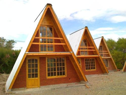 cabañas alpinas de 32 construyo en 7 dias