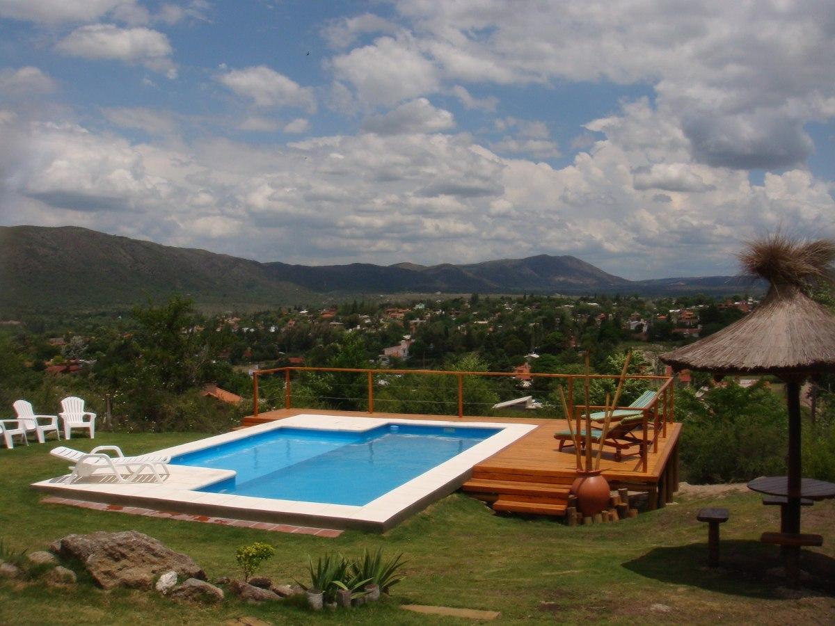 cabanas de categoria vista panoramica con pileta y solarium