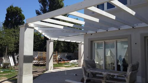 cabañas macizas, pergolas, decks, techos livianos