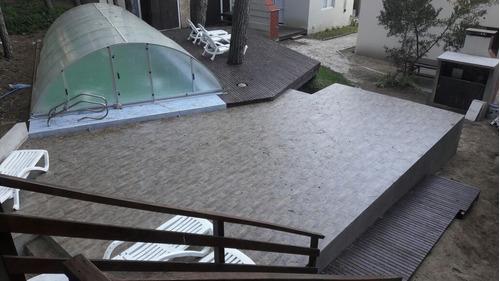 cabañas piscina climatizada mar azul de 2 a 12 personas