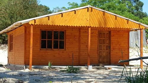 cabañas prefabricas aberturas ,tablas de pisos ,postes ,deks