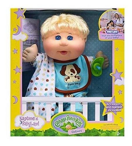 cabbage patch kids 12.5  naptime babies - pelo rubio /