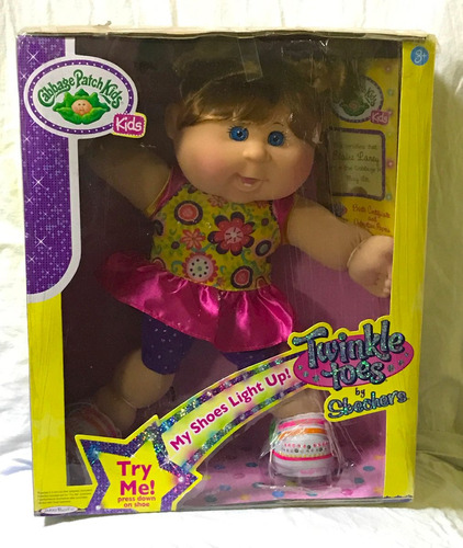 cabbage patch kids muñeca blaire laney zapatos brillantes