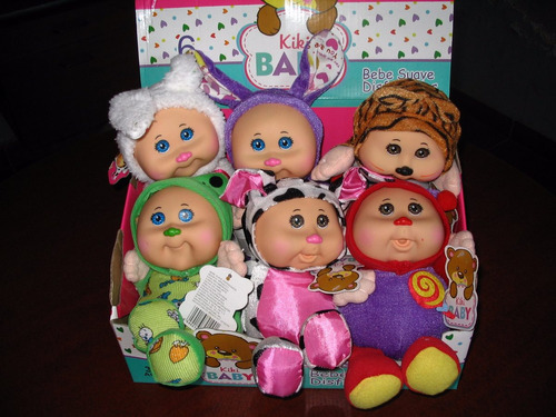 cabbage patch kiri baby set con 6 pzas