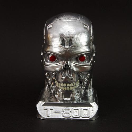 cabeça boneco t800 exterminador do futuro cromada 13cm