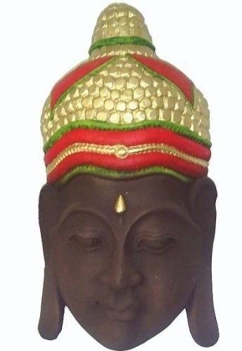 cabeça buda hindu tailandes ótimo tamanho parede 49cm mod2