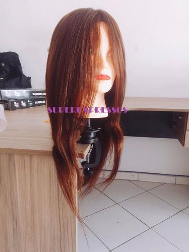 cabeça de boneca treino cabeleireiro mista 80% natural 55 cm
