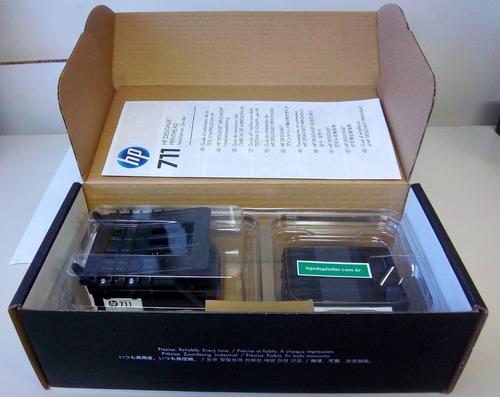 cabeca de impressao plotter hp 711 kit unico p/ hp t120/t520