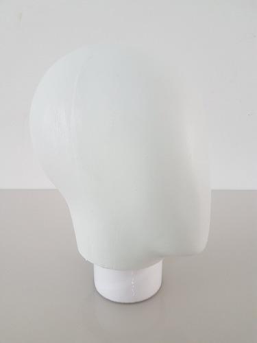 cabeça de manequim casca de ovo expositora