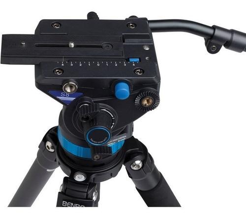 cabeça hidráulica p/ vídeo benro s8 p/ tripé monopé slider