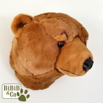 cabeca urso parede wild soft¨