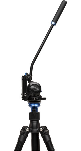 cabeça vídeo fluido hidráulica benro s4 até 4kg tripé monopé