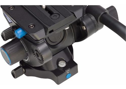 cabeça vídeo hidráulica benro s6 p/ tripé monopé slider 6kg