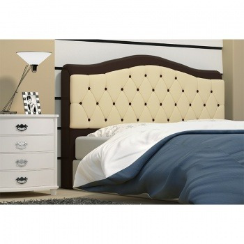 cabeceira box de casal letícia 186cm de largura marrom/bege
