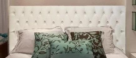 cabeceira box estofado para cama  140x70
