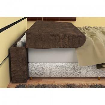 cabeceira box solteiro c/ baú pietra 90cm de largura marrom