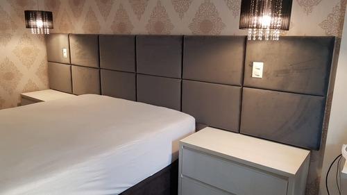 cabeceira cama box 18 módulos painel 3,45 x 1,20