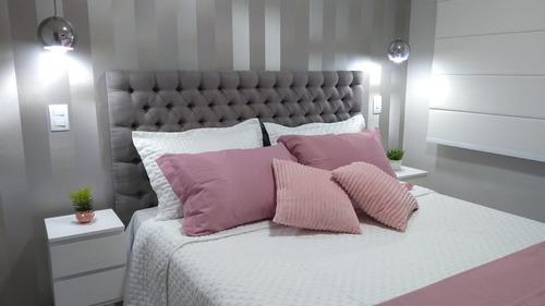 cabeceira captone para cama box casal 1,40 x 50