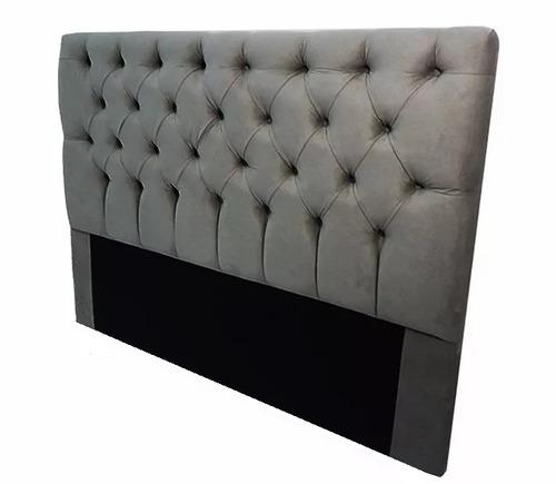 cabeceira casal  para cama box cinza 1,40m
