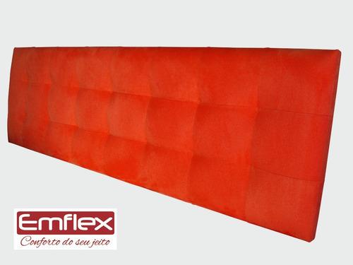 cabeceira color para cama box queen - modelo anne