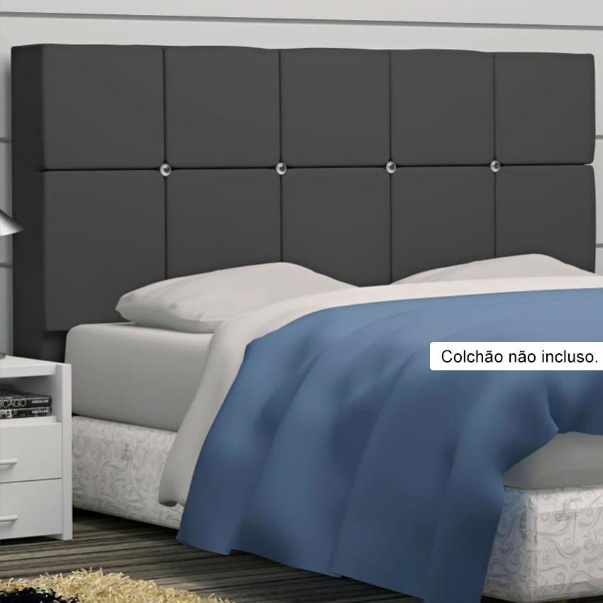 Cabeceira damares para cama box queen size 160cm com for Imagenes de cama queen size