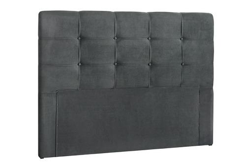 cabeceira de casal js móveis cinza 1303 tokio estofada 140cm