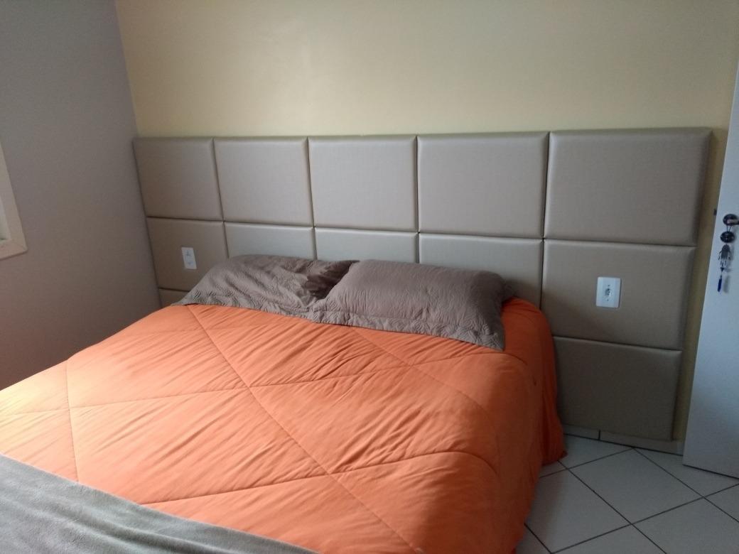 261bd6767 cabeceira em módulos cama box estofada painel módulo 40x30cm. Carregando  zoom.