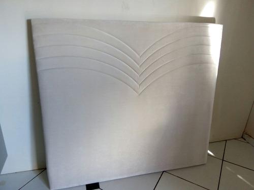 cabeceira estofada  cama box casal 1.40 e 160 cm 128 cm alt