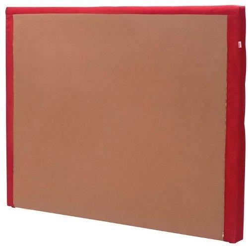 cabeceira estofada casal herval mh 2650 138 cm vermelho