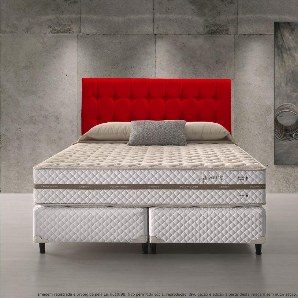 36a849964 cabeceira estofada painel com pontos vermelha cama box queen. Carregando  zoom.