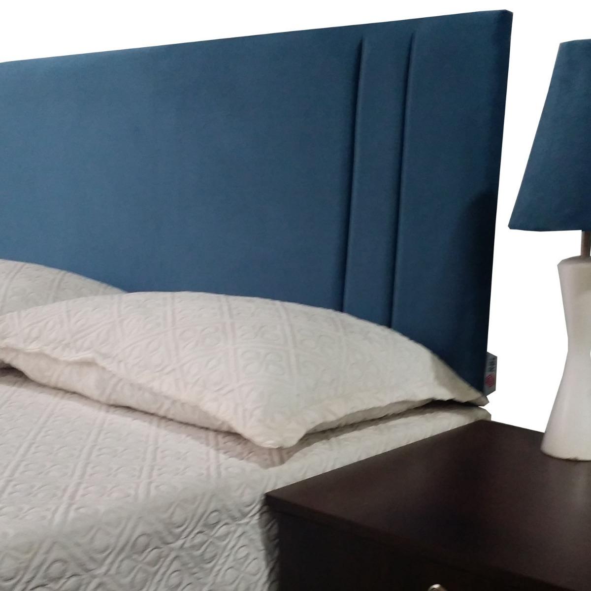 051748b1d cabeceira estofada suede azul cama box solteiro 90 x 60 rbl. Carregando zoom .
