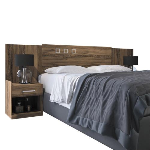 cabeceira p/ cama de casal com 2 criados - havana plus
