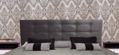 Cabeceira painel almofadada cama box king suede oferta r for Cama king oferta