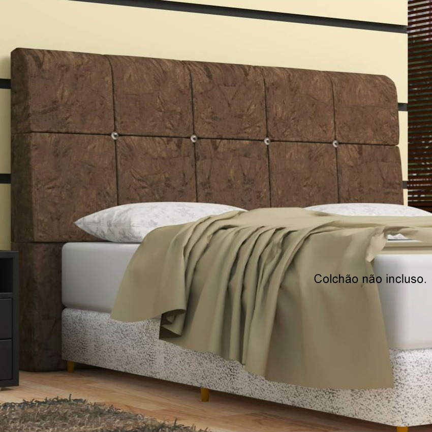Cabeceira pietra para cama box casal king size 195 cm ba for Cama queen size or king size