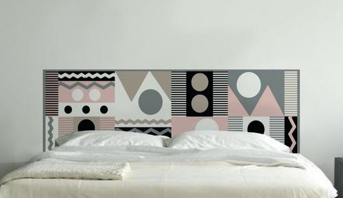cabeceiras adesiva by renata rubim - tamanho casal