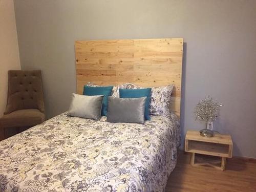 cabecera de cama king size madera tarima sustentable