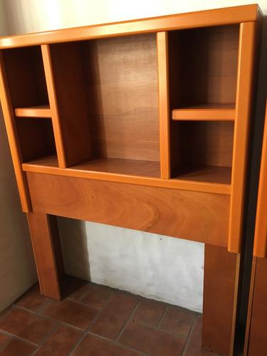 cabecera individual madera