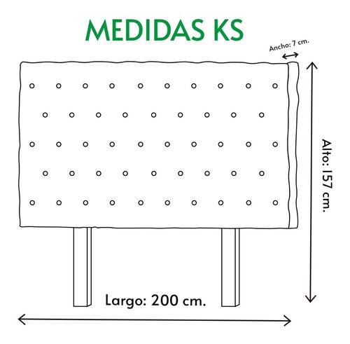 cabecera king size  capitonada economica msi envio gratis