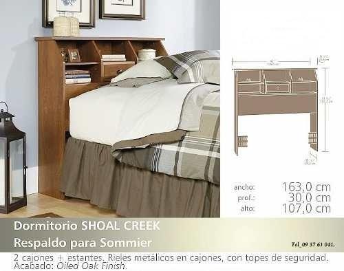 Respaldo Cabecera Sauder 2 Plazas Muebles Envio Sin Costo - $ 8.500 ...